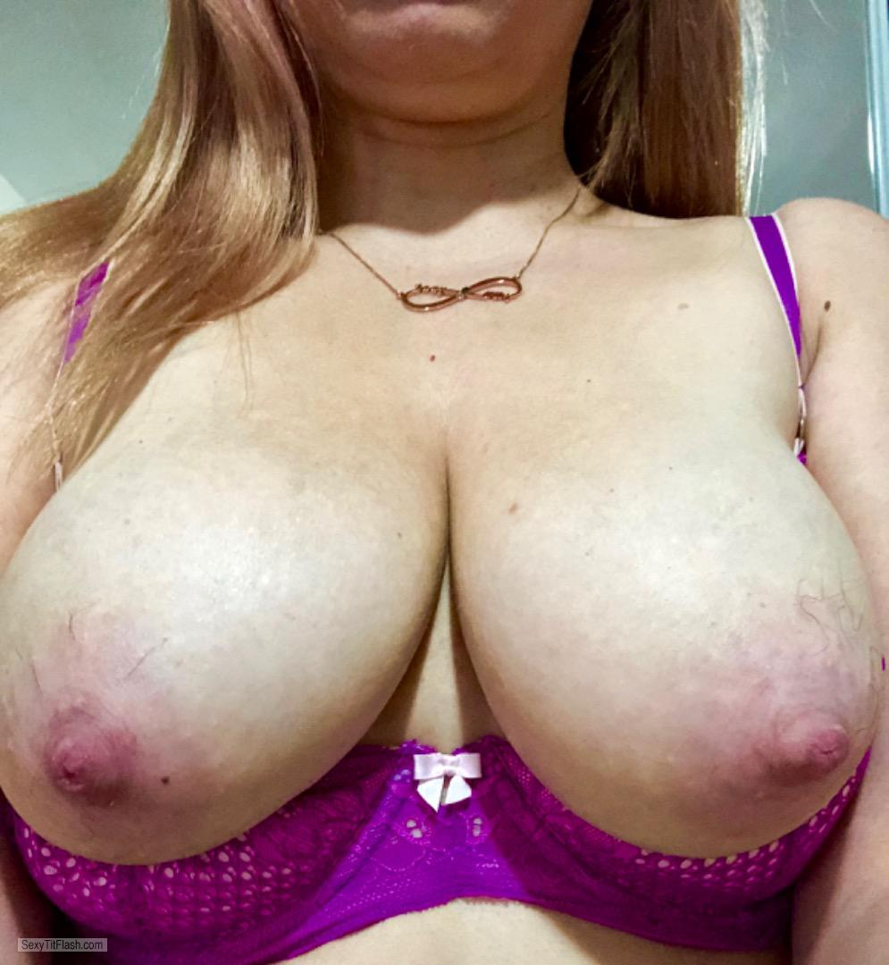 Tit Flash: My Big Tits (Selfie) - Ms. DDs from United Kingdom